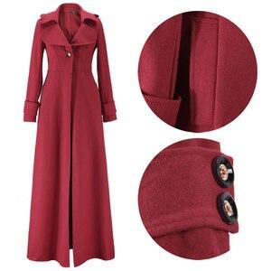Image 5 - Kış ceket kadınlar sarkaç havalandırma paspaslamak için zemin Overlength fon yün palto rüzgarlık boy uzun siper dış giyim
