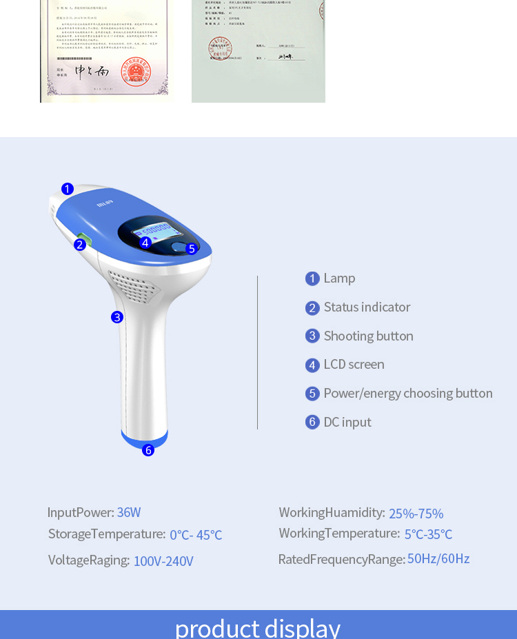 Mlay IPL Hair removal Epilator - A Laser Permanent Hair Removal Machine For Face & Body