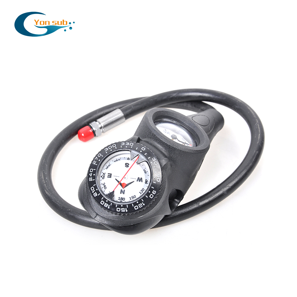 YONSUB Free Sipping SCUBA Diving 3 Gauge Diving Pressure Gauge + Diving Digital Depth Gauge + Diving Compass Gauge