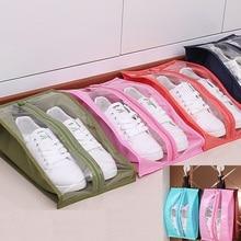 цены Waterproof Shoes Bag Travel Portable Shoe Storage Bag Sneaker Pocket Home Dustproof Organizer Shoe Rack