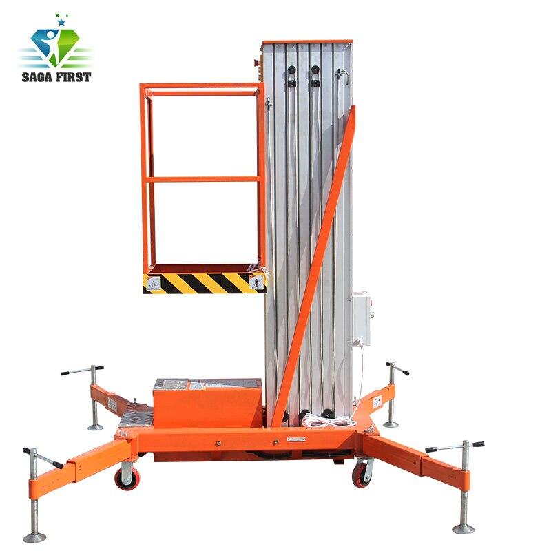 Plate-forme élévatrice simple en aluminium de mât de 6m à 10m plate-forme élévatrice électrique en aluminium plate-forme élévatrice en alliage d'aluminium