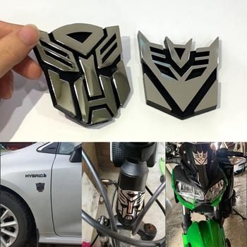 Car Styling plastikowe naklejki samochodowe 3D fajne autoboty Logo transformatory odznaka godło ogon naklejka motocykl rower dekoracja samochodu tanie i dobre opinie Cała powierzchnia CN (pochodzenie) Klasyczny film Do naklejania 0 5cm 8 5cm W stylu Transformersów Włókno węglowe Nadwozie samochodu
