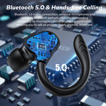 TWS Wireless Earphones Waterproof HiFi Stereo Sport Headsets LED Display Bluetooth-Compatible Headphones Earbuds With Microphone 3