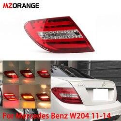 Luz trasera mnaranja para Mercedes Benz W204 C180 C200 C220 C260 C280 C300 2011-2014 luz trasera de freno