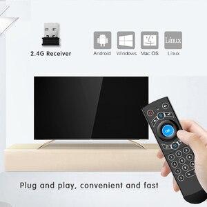 Image 5 - L8star с подсветкой гироскоп Air Mouse голосовой набор микрофон 2,4G беспроводной USB Пульт дистанционного управления для Android tv Box дистанционное управление le
