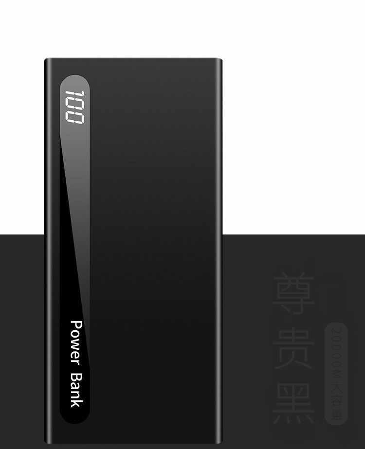 Banco de energía de 30000mAh, batería externa portátil, Banco de energía ultrafino, Cargador USB doble para IPhone Xiaomi Huawei Samsung