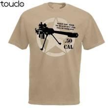 50. Cal Sniper cytat Us styl wojskowy T-Shirt Desert Marks człowiek nowy 2019 moda 100% bawełna na koszulki męskie Christian T Shirt