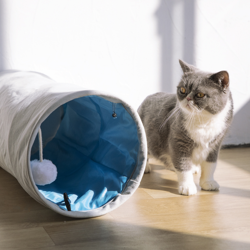 Cat Tunnel Hole Drilling Toy Products  Small Pet House Hand Wash Breathable Solid Dog Bed Beds