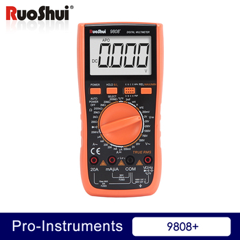 цена на 9808+ Victor RuoShui Digital True RMS Students Multimeter 20A 1000V Manual Range Capacitance range tester tool meter