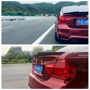UBUYWUANT For BMW E90 3 Series M4 Carbon Fiber Rear Trunk Wing Spoiler 2005 2006 2007 2008 2009 2010 2011 For Bmw E90 image