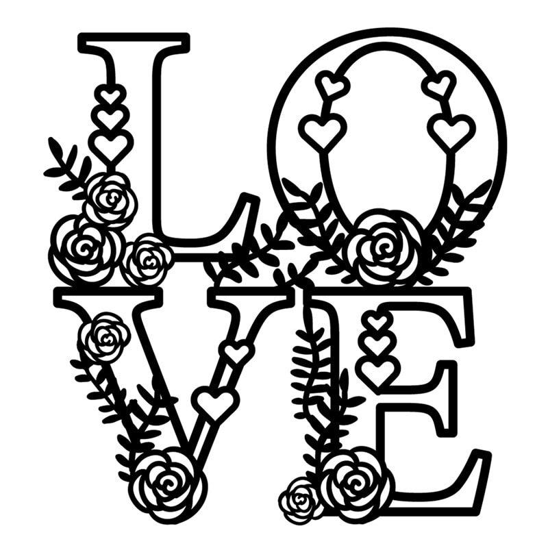 Love You Word Dies Metal Cutting Die Card Making Scrapbooking Embossing Stencil
