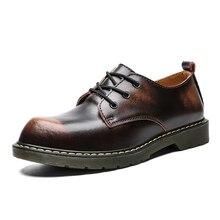 Doc/кожаные ботильоны; Ботинки на каблуке; зимние ботинки; Мужская водонепроницаемая повседневная обувь; мужские кожаные роскошные свадебные туфли; Цвет черный, коричневый