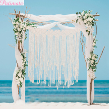 PATIMATE Rustic Wedding DIY Photo Backdrop Table Runner Decorations Event Party Supplies for Decor