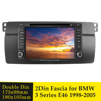 Double Din Car Radio Fascia Stereo DVD Player Panel Dash Mount Trim Kit Audio Adapter Frame Bezel For BMW 3 Series E46 1998-2005 image