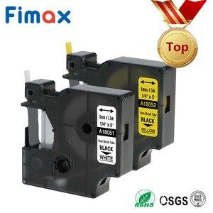 Fimax 2 Pcs Compatible Dymo Industrial Heat Shrink Tube 18051 18052 18053 18054 18055 18056 Label Maker DYMO Rhino Label Printer(China)