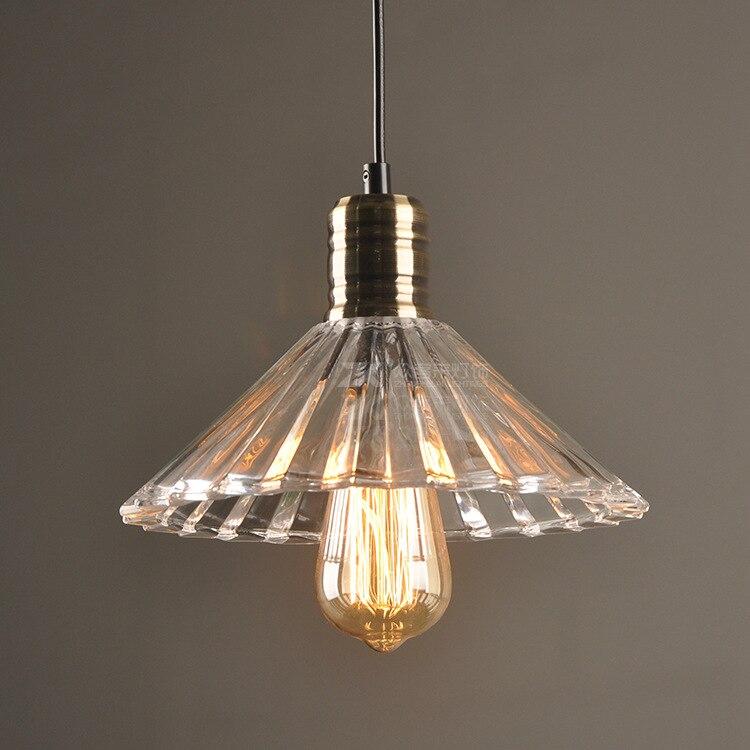 Современная хрустальная люстра в форме зонта, американская сельская Ретро промышленная ветровая Люстра для спальни, столовой, прозрачная с