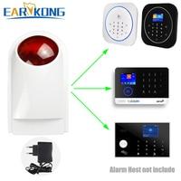 433 mhz sem fio sirene strobe alarme de luz ao ar livre à prova donly água apenas para g4/w123/pg103/w2b wifi gsm sistema de alarme|Sirene de alarme|Segurança e Proteção -