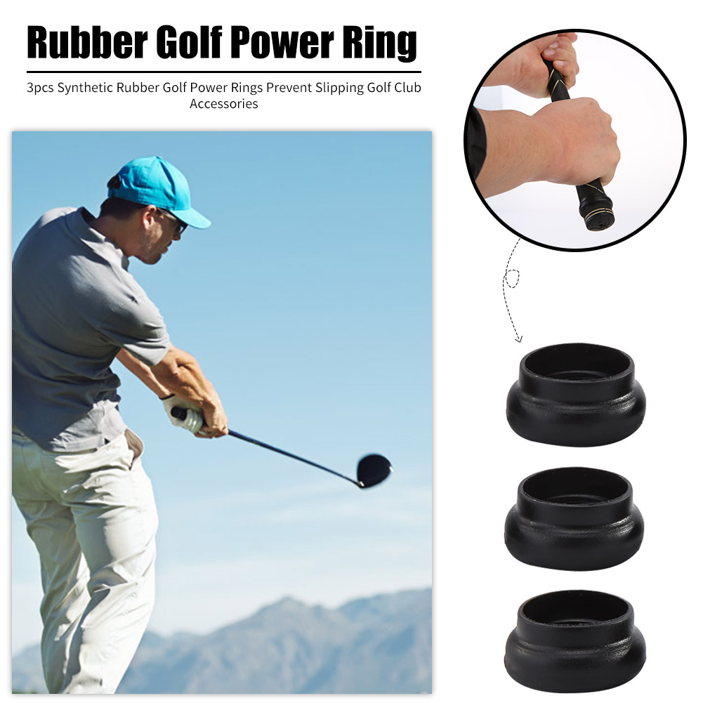 3pcs Synthetic Rubber Golf Power Rings Prevent Slipping Rubber Golf Power Rings Golf Accessories