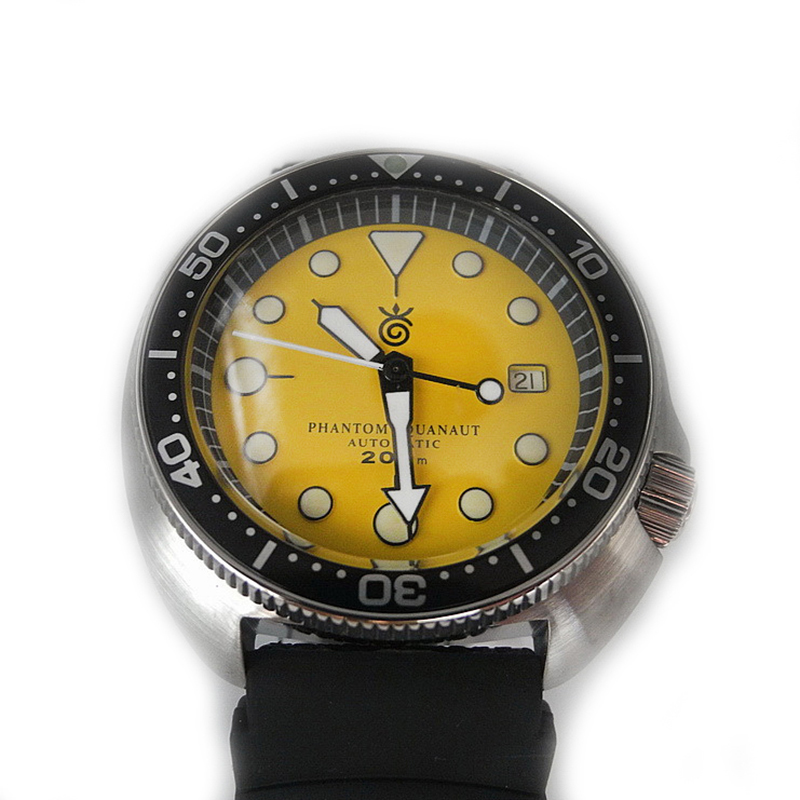 Fashion New Tuna 6105 Diving Watches Sapphire Glass 200m Water Resistant Water Ghost Men's ST2130 Mov't  Automatic Wristwatches