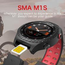 цена на SALE M1s Smart Watch Support SIM & Bluetooth Phone Call GPS Smartwatch Phone Men Women IP67 Waterproof Heart Rate Monitor Clock