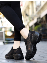 Fashion Spring Autumn Women Platform Shoes Woman Lady Flats Casual Thick Bottom Black Shoes Sock Slip On Dance Shoes X029 cresfimix chaussures pour femmes women cute spring slip on flat shoes with rubber bottom lady casual comfortable street shoes