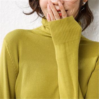 2020 sweter kobiet jesień i zima nowy dzikie wysoki kołnierz sweter z wełny dzianiny jednolity kolor ciepłe luźne nowy najniższy koszula PZ2330 tanie i dobre opinie flubiflous Women Knitted Sweater Poliester REGULAR Na co dzień NONE STANDARD Kobiety Szydełkowane Pełna Stałe Brak Golfem