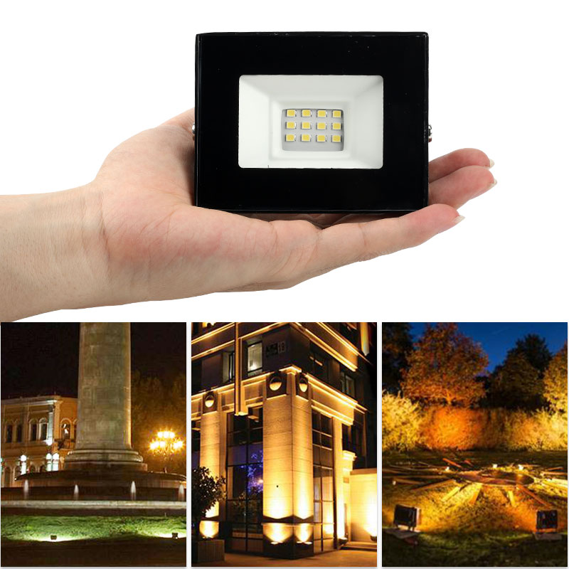 LED Flood Light 10W 20W 30W 50W 100W 150W 200W AC220V Garden Wall Path Spotlight Outdoor IP66 Reflector Light Lamp 66 Waterproof