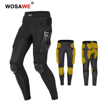 WOSAWE Motorcycle Pants Motocross Hip Protection with Knee Pad Protective Gear MTB Anti Break Wearable Motorbike Trousers