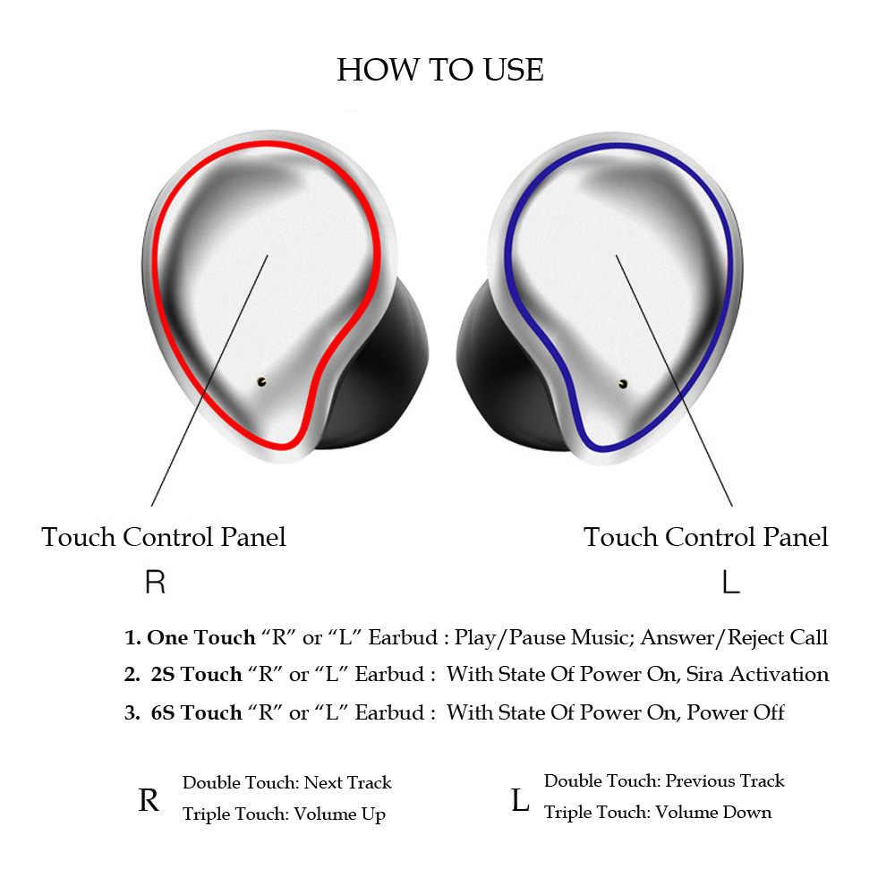 Hifi Diepe Bass Noise Canceling Oordopjes Sport Bluetooth Tws Oortelefoon Handsfree Draadloze Oordopjes Audio Casques Met Metal Case