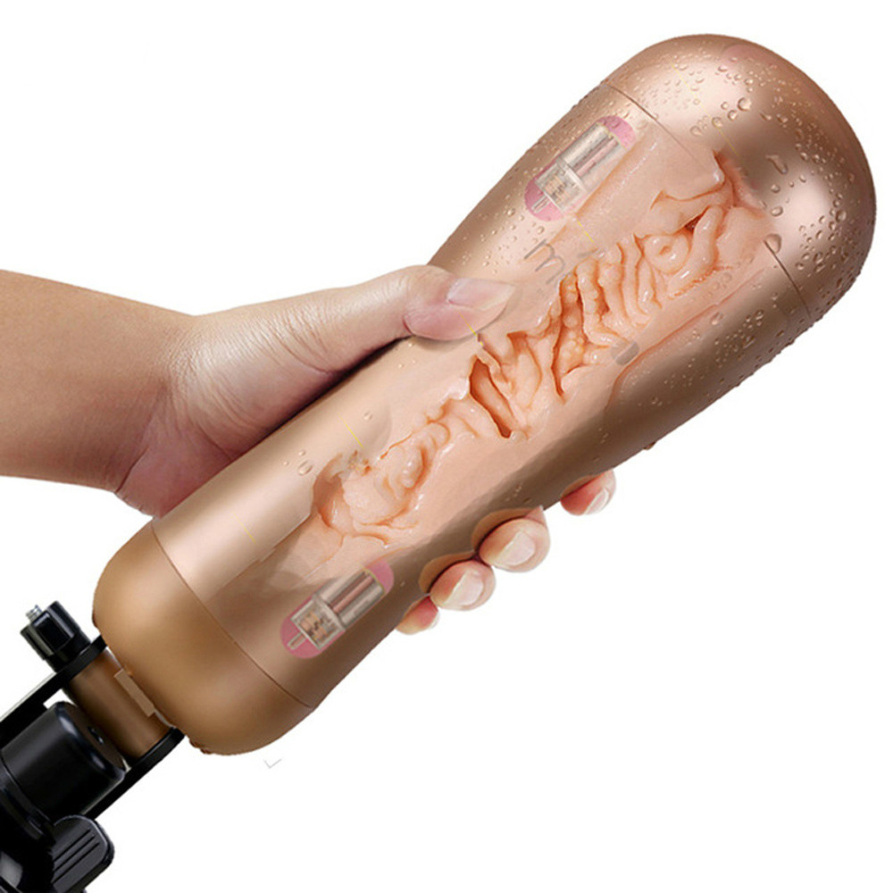 Rechargeable Hands Free Male Masturbator With Strong Suction Cup Artificial Vagina Real Pussy Sex Toys For Men Sex Products