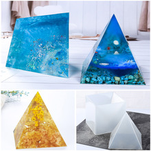 15cm Large Pyramid Shape DIY Silicone Mould for Resin Casting Jewelry Making Ornaments Candle Making Molds Resin Crafts Decor