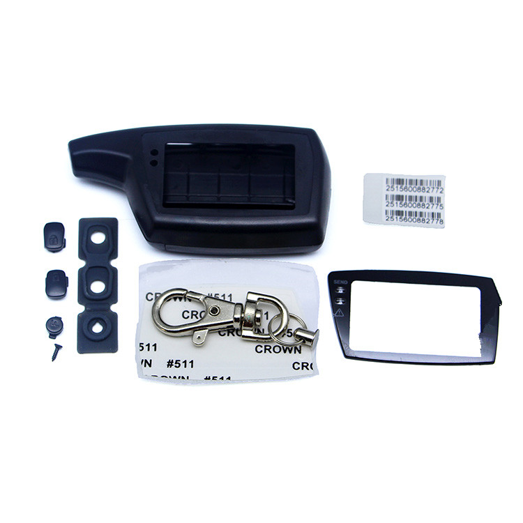 DXL 3000 Key Case Keychain For Two Way Car Alarm System PANDORA DXL3000 LCD Remote Control Key Fob Chain