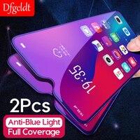 2 uds la cubierta completa Anti-Luz Azul Protector de pantalla para OPPO R17 RX17 Pro Neo R15 R15x A9 A9x A7 A7x A5 A3 A1 F7 de vidrio templado