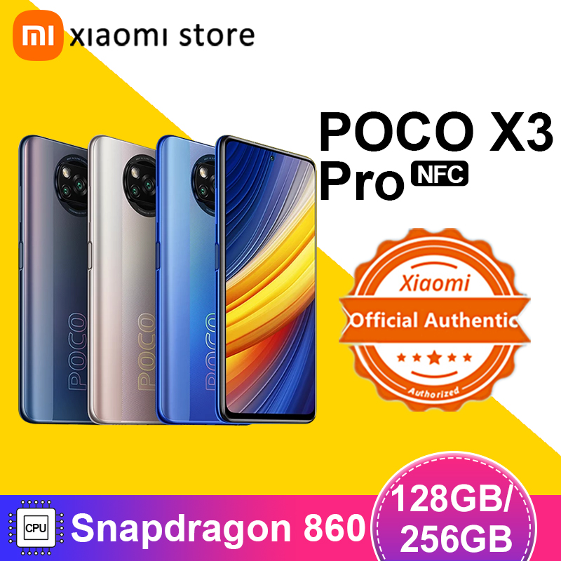 Глобальная версия POCO X3 Pro смартфон 6 ГБ 128 ГБ/8 ГБ 256 Snapdragon 860 120 Гц DotDisplay 5160 мА/ч, 33 Вт NFC четырехъядерный AI Камера