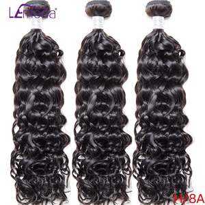 Волнистые человеческие волосы в пучках, 3 шт., 4 шт./Лот, бразильские волосы, волнистые пучки, волосы Lemoda Remy для наращивания, 10-30 дюймов, натурал...
