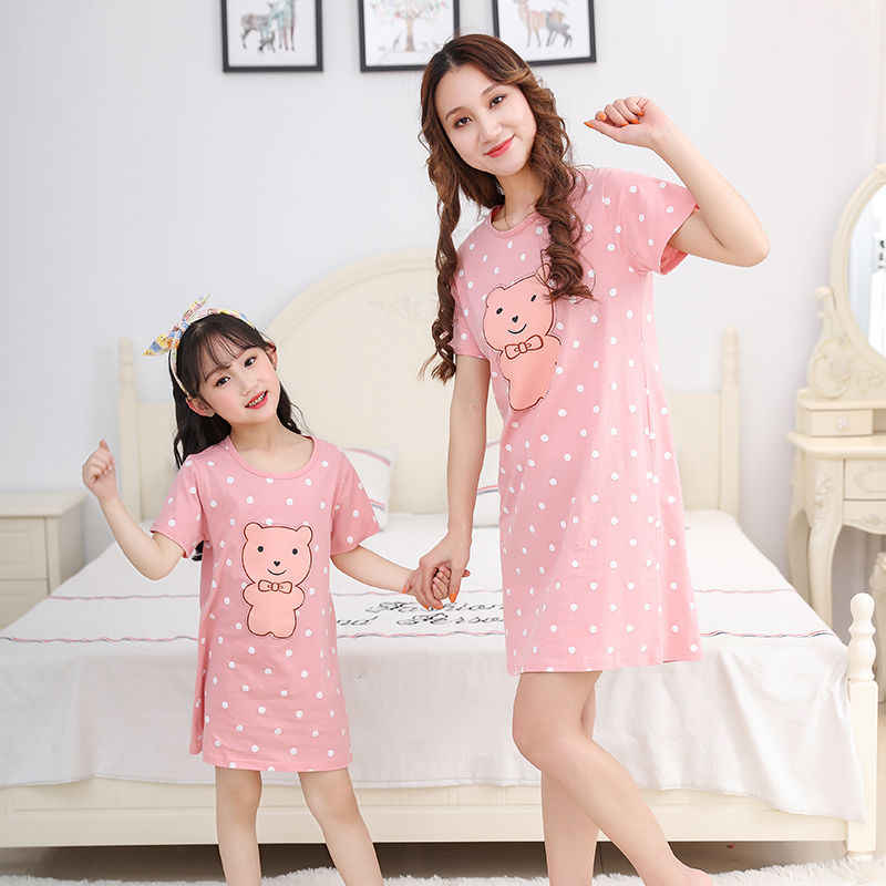 Color : Blue, Size : 130cm Pajama Sets Girls Nightshirts Childrens Bathrobe Girl Dress Childrens Summer Sleepwear 100/% Cotton Nightgown Home Service Can Be Worn Outside