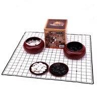 New Black and White Go Plastic Boxed Children's Backgammon Parent child Interactive Game Chess Glass