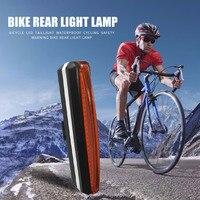 USB 충전식 자전거 LED 미등 사이클링 안전 경고 자전거 야외 안티 저항 수리 요소 후면 조명