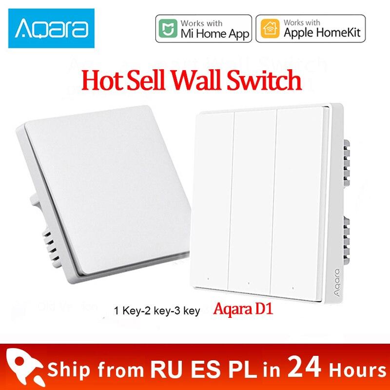 Xiaomi Aqara D1 Wall Switch ZigBee Smart Light Remote Control Wireless Key Zero Line Fire Wire Wall Switch With/NO Neutral(China)