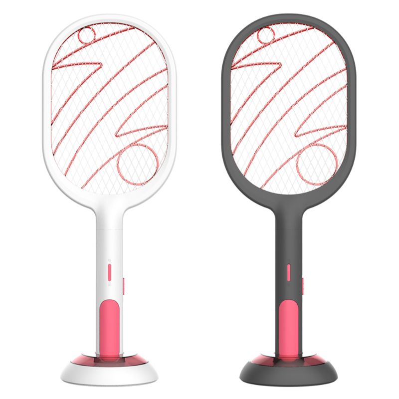 USB Charging Electric Mosquito Swatter Three Layer Mute Mosquitoes Lamp Killer(Random Color)