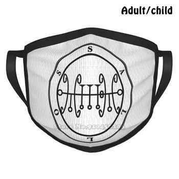 Sallos Custom Design Face Mask For Adult Kids Anti Dust Sallos Saleos Goetia Lesser Key Solomon Thelema Crowley Aleister Occult image