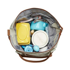 Image 4 - Diaper bag 7 pieces set nappy tote bag large capacity for baby mom dad Travel Bag with Stroller Straps