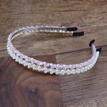 Handmade Trendy Slim Pink Beads Hairband Pearl Headband For Women Girls Chic Hair Accessories stylish beads lace hairband for women