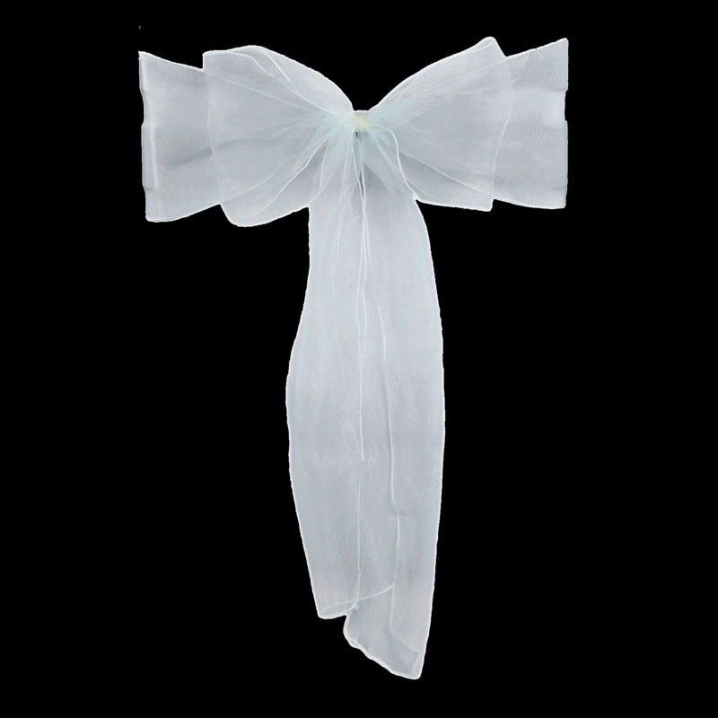 50pcs Sheer Organza Chair Sash Bow For Cover Sashes Bow Banquet Wedding Party Event Xmas Home Decoration  BJStore