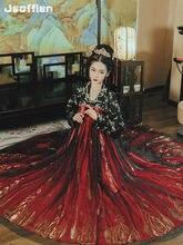Tradicional chinesa Mulheres Mulher Traje Hanfu Dinastia Han Princesa Dança Vestido Da Senhora Do Vintage Tang Terno de Fadas Cosplay Roupas
