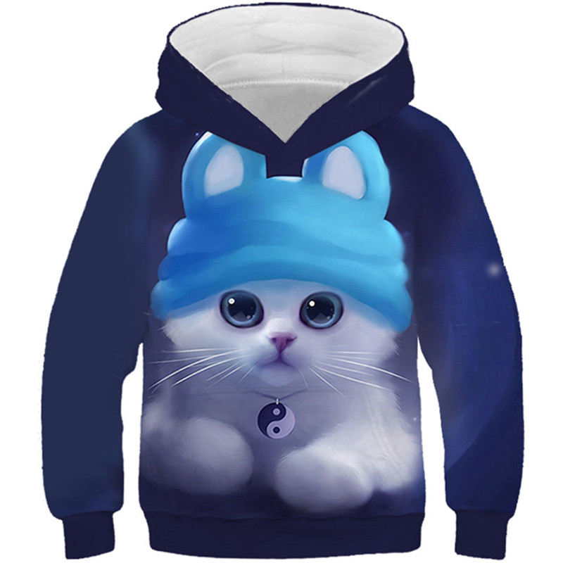 Sweatshirts Kids Hoodies Pullovers Panda Space-Print Girls Boys Children Galaxy Winter title=