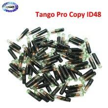 50 uds, ID48 chip de cristal Auto transpondedor llave de coche en blanco (después del mercado) Tango Pro copia ID48 Chip para VW Skoda Seat para Audi