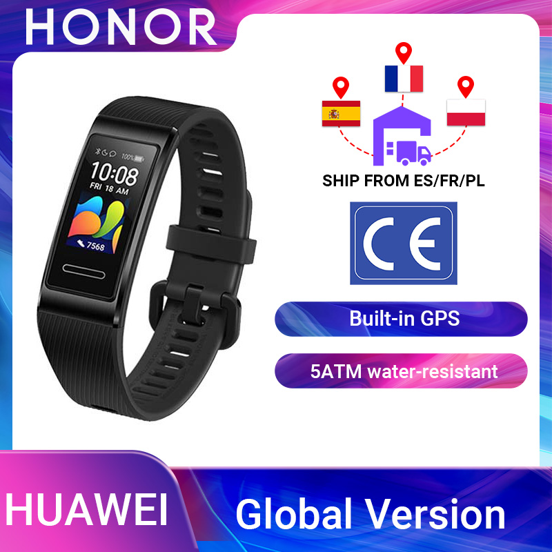 Global Version Huawei Band 4 Pro Amoled 0 95  Metal Material Heart Rate Sensor Sleep Bracelet GPS