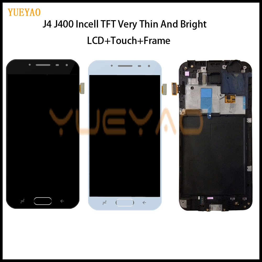 Adjust Incell TFT LCD Screen For <font><b>Samsung</b></font> <font><b>Galaxy</b></font> <font><b>J4</b></font> J400 J400F J400G/DS SM-J400F Touch Screen Digitizer LCD <font><b>Display</b></font> With Frame image
