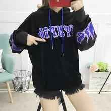Свободные женские уличные рубашки с капюшоном, корейские черные толстовки с принтом, большие размеры, Женские повседневные топы, Золотая Бархатная уличная одежда 4XL